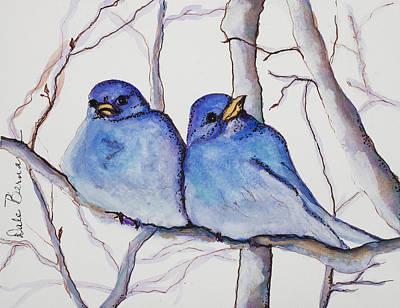 Painting - Bluebirds by Dale Bernard