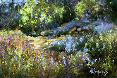 Painting - Bluebonnet Dazzle by Rae Andrews