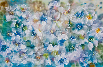 Pearlescent Mixed Media - Bluebonnet by Don  Wright