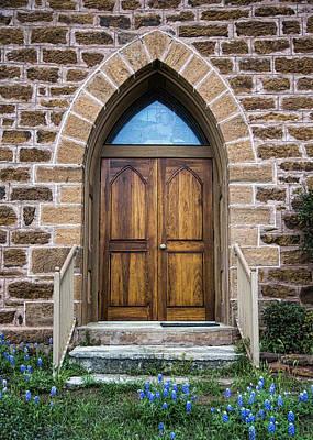 Porch Photograph - Bluebonnet Door by Stephen Stookey