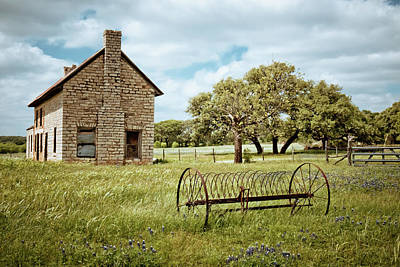 Old Country Roads Photograph - Bluebonnet Dreams by Linda Unger