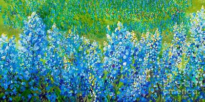 Painting - Bluebonnet Panorama by Eloise Schneider