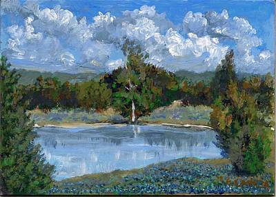 Painting - Bluebonnet Pond by Elizabeth Lane