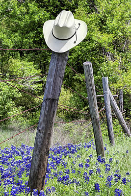 Photograph - Bluebonnets And Cowboy Hats by JC Findley