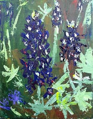 Bluebonnets Painting - Bluebonnets At Fredricksburg by Julene Franki