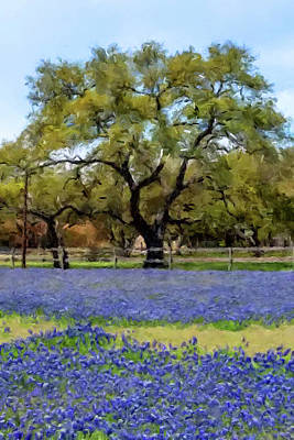 Painting - Bluebonnets by Gary Grayson