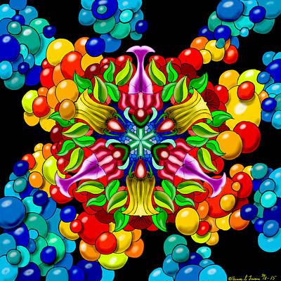 Painting - Bluebubbleflower by ThomasE Jensen