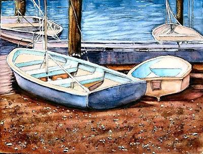 Painting -  Blued On Shore by June Conte Pryor
