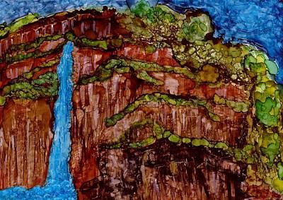Joy Dorr Painting - Bluefalls by Joy Dorr