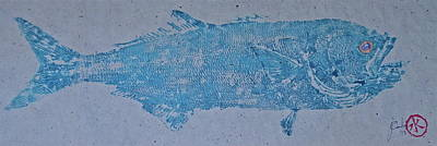 Pirate Haven Mixed Media - Bluefish - Chopper- Aligator Blue - by Jeffrey Canha