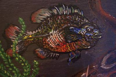 Panfish Painting - Bluegill Hideout by Chris Newell