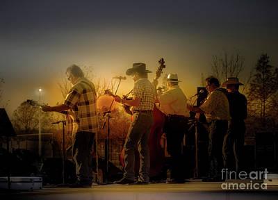 Photograph - Bluegrass Evening - Backstage by Robert Frederick