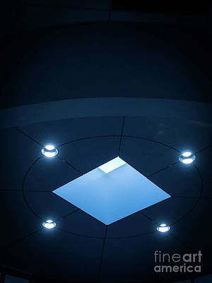 Photograph - Blueish Ceiling by Fei A