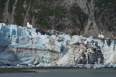 Blueish Photograph - Blueish Glacier In Alaska by Yuri Tomashevi