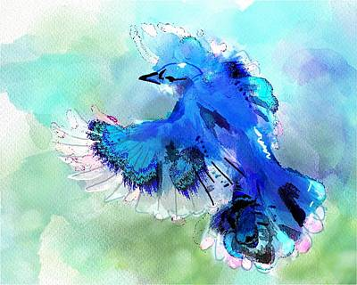 Bluejay Digital Art - Bluejay Sway by Richard Okun