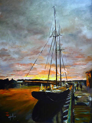 Bluenose Painting - Bluenose II At Dock by Josef Kelly