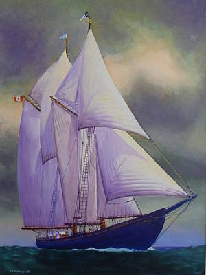 Bluenose Painting - Bluenose II by Karsten Kittelsen