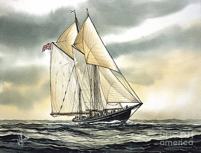 Bluenose  Art Print by James Williamson