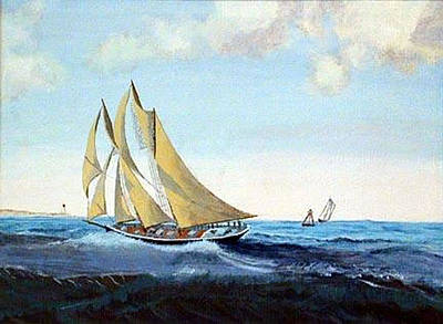 Bluenose Painting - Bluenose by Richard Le Page