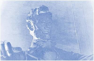 Lincoln Memorial Painting - Blueprint Drawing Of Abraham Lincoln Lincoln Memorial Washington Dc by Celestial Images