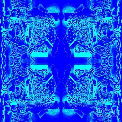Blueprint Print by Helena Tiainen