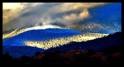 Photograph - Blueray Winter New Mexico by Susanne Still