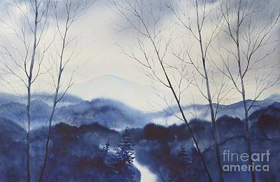 Smokey Mountains Painting - Blueridge Winter by Megan Richard