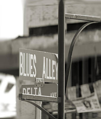 Blues Alley Street Sign Art Print