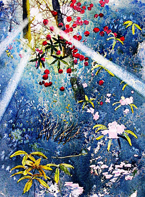 Painting - Blues And Berries by Glenn Marshall