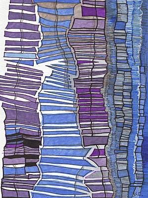 Lilac Drawing - Blues And Purples by Sandra Church
