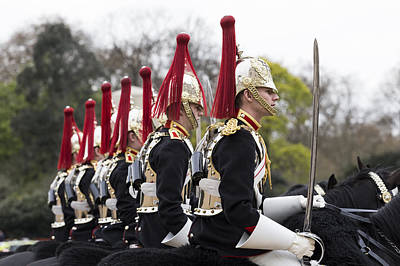 Changing Of The Guard Photograph - Blues And Royals Cavalry  by David Pyatt