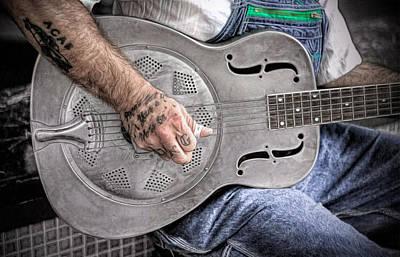 Blues And Tattoos Art Print