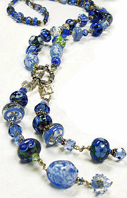 Lampwork Jewelry - Blues by Barbara Berney