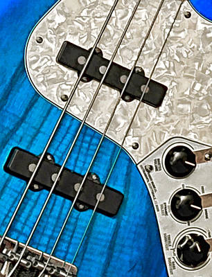 Blues Bass Art Print by William Jobes