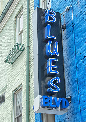 Blues Blvd Art Print by Blaine Owens Photography