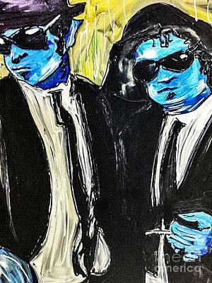New Orleans Painting - Blues Brothers by Paula Baker