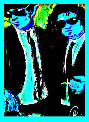 Blues Brothers Wear Blue Art Print