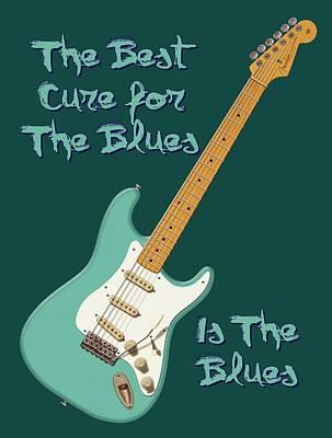 Digital Art - Blues Cure Seafoam by WB Johnston