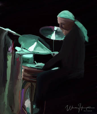 Painting - Blues Drummer Tommy Morgan by Wally Hampton