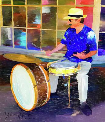 Painting - Blues Drummer  Wally Hampton by Wally Hampton