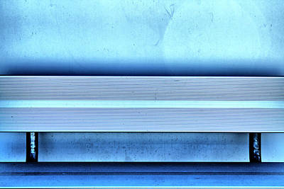Blues From A Bench Art Print