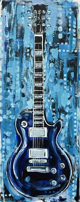 Painting - Blues Guitar by John Gibbs