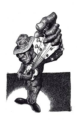 Blues Guitar Art Print by Tobey Anderson