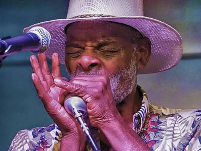 Photograph - Blues Harp by C H Apperson