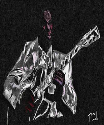 Digital Art - Blues In Silver by Terry Fiala