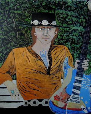 Painting - Blues In The Park With Srv. by Ken Zabel