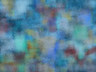 Abstract Art Painting - Blues by Jeff Montgomery