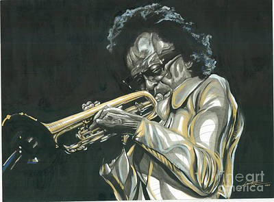 Blues Miles Art Print by Keith  Thurman