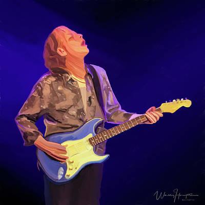 Painting - Blues Musician  Matt Schofield by Wally Hampton