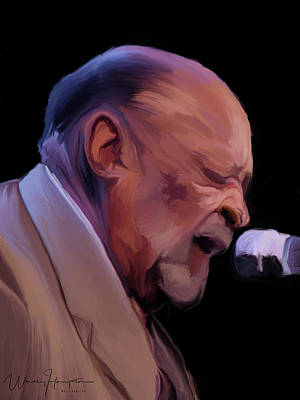 Painting - Blues Musician  Robert Lockwood Jr by Wally Hampton